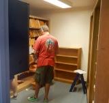 Clean up of choir room.